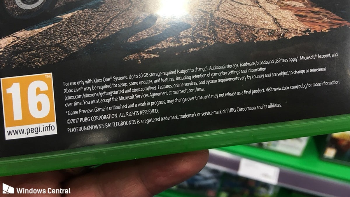 PUBG on Xbox One Will Require 30GB HDD Space